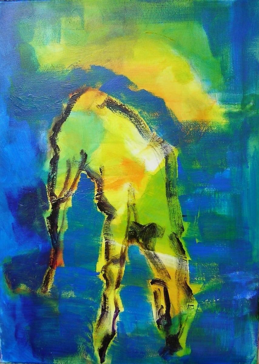 Drenkend paard