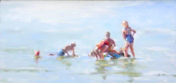 Spelen in Zee