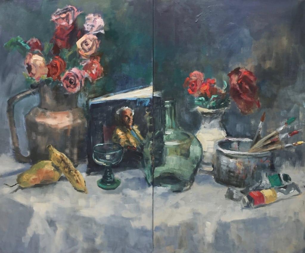 Schilderij (Tweeluik) Stilleven